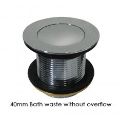 40mm Bath Waste with or without Overflow