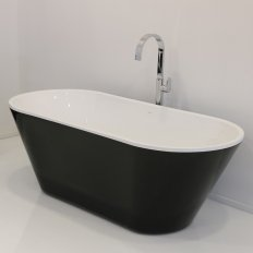 Progetto Evo Freestanding Bath 1670 Black & White