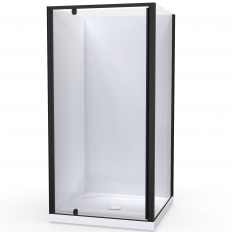 Sierra Showers Flat Wall - Black
