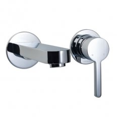 Studio Wall Mount Basin Mixer Pin Lever Chrome