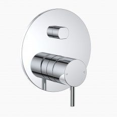 Round Pin Wall Mixer With Diverter - Chrome