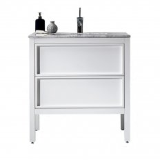 Robertson Parisi Arrivo 800 Floor Vanity with Marble Top Gloss White