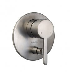 Studio Bath/Shower Mixer With Diverter Pin Lever Brush Nickel