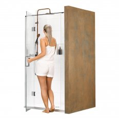 Black Pearl Tristan 3 Wall Shower 900 x 900