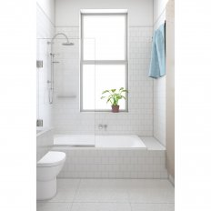 Alto Bath Screen - Single Hinged Panel