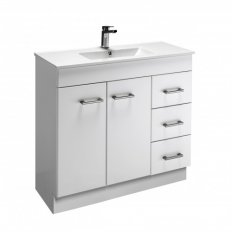 Cashmere Slim 900 Classic Doors and Drawers Vanity