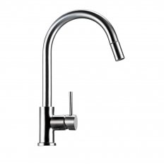 Deluna Sink Mixer with Pullout (No Spray) Brushed Stainless