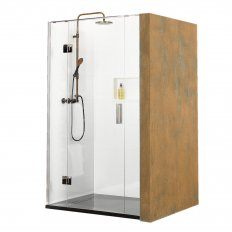 Ebony & Ivory Soprano 3 Wall Shower 1000 x 1000