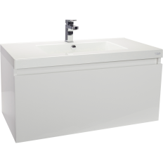 Valencia Wall Hung Vanity, Single Drawer, Single Bowl, 900mm