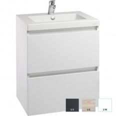 Valencia Wall Hung Vanity, Two Drawers, Single Bowl, 600mm