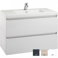 Valencia Wall Hung Vanity, Two Drawer, Single Bowl, 900mm