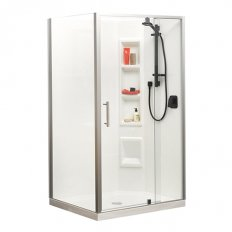 Millennium Showers Moulded Wall - White