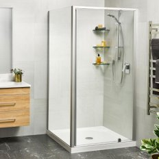 Sierra Showers Tiled Wall - Satin