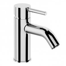 Elementi Uno Basin Mixer Curved Spout Chrome