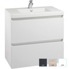 Valencia Wall Hung Vanity, Two Drawer, Single Bowl, 750mm