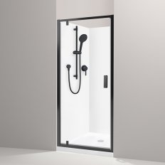 Valencia Elite Alcove Acrylic Shower - Black