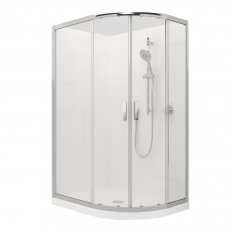 Valencia Elite Round Sliding Acrylic Shower 1200X900