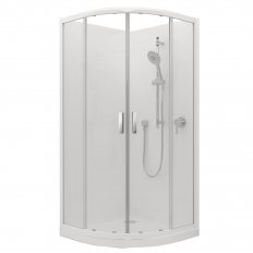 Valencia Elite Round Sliding Shower, Acrylic - 1000 x 1000mm
