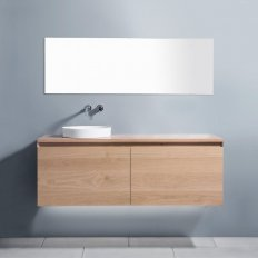 Zero 1800 Wall-Hung Vanity, 2 Drawers (Side-by-Side) + 2 Concealed Drawers