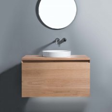 Zero 900 Wall-Hung Vanity, 1 Drawer + 1 Concealed Drawer