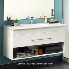 Cashmere Slim 600 Single Drawer Open Vanity