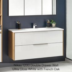 Nikau Double Drawer Vanity 900