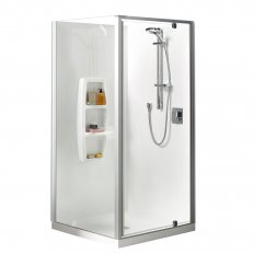 Sierra Showers Moulded Wall - White