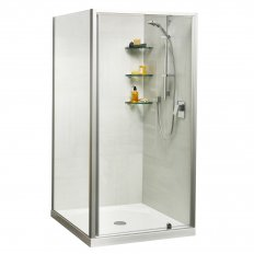 Sierra Showers Tiled Wall - White