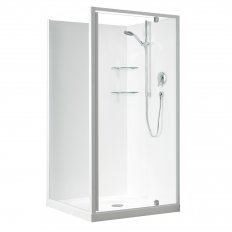 Sierra Showers Flat Wall - White