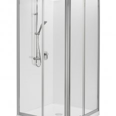 Valencia Elite Square Sliding Shower, Acrylic - 1000 x 1000mm
