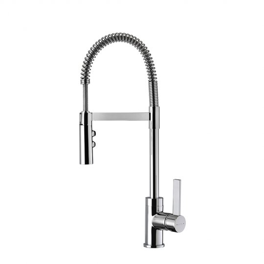 Gaston Spring Pull Down Twin Function Sink Mixer - Chrome