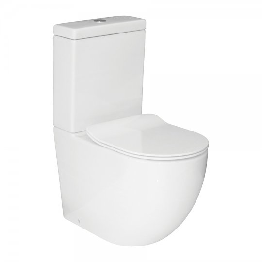progetto zen back to wall toilet suite slim seat on sale. Black Bedroom Furniture Sets. Home Design Ideas