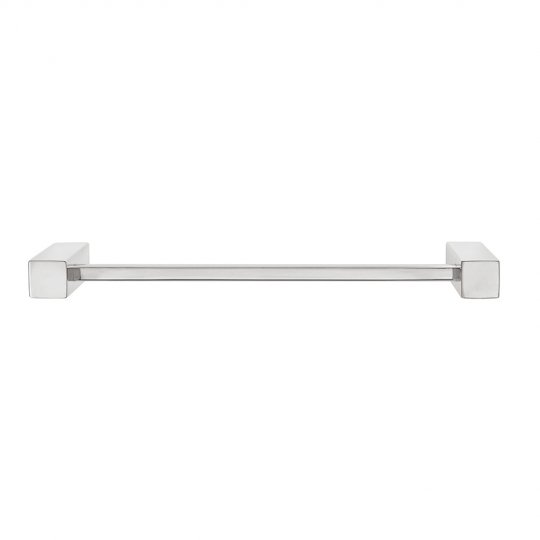Square Single Towel Rail 370mm - S/S