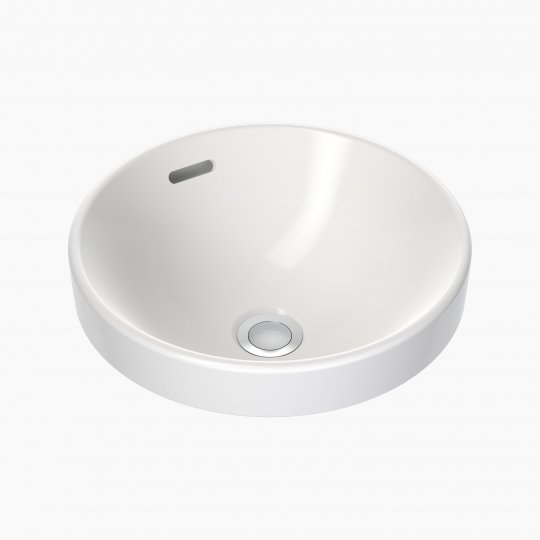 Round Inset Basin 350mm (No Tap Hole, with Overflow)