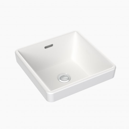 Square Inset Basin 350mm (No Tap Hole with Overflow)