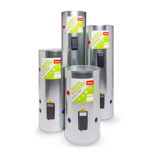 Rinnai Stainless Steel Mains Pressure Hot Water Cylinders