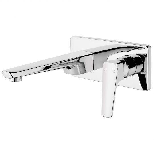 Eclipse Wall Basin Mixer Set Chrome