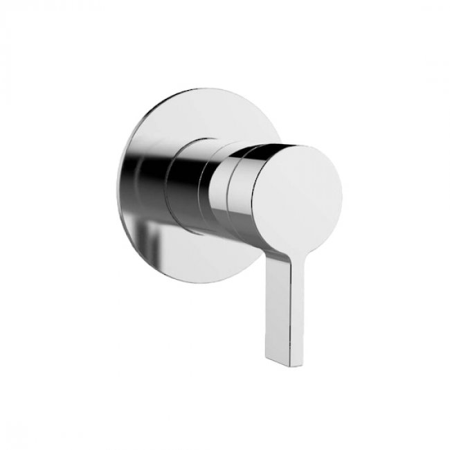 Components Shower/Bath Thin Trim, Lever Handle - Chrome