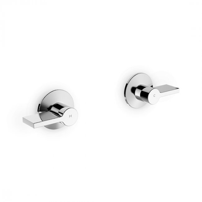 Kohler Components Wall Mount Dual Handles, Lever - Chrome