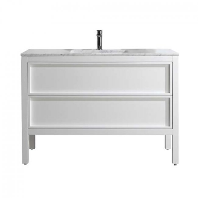 Robertson Parisi Arrivo 1200 Floor Vanity with Marble Top Gloss White