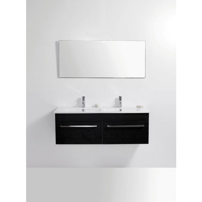 Zara 1200 Wall-Hung Vanity, 2 Drawers, Double Bowl