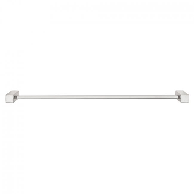 Square Single Towel Rail 670mm - S/S