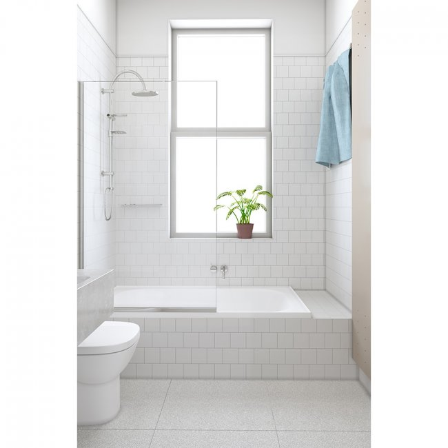 Alto Bath Screen - Single Fixed Panel