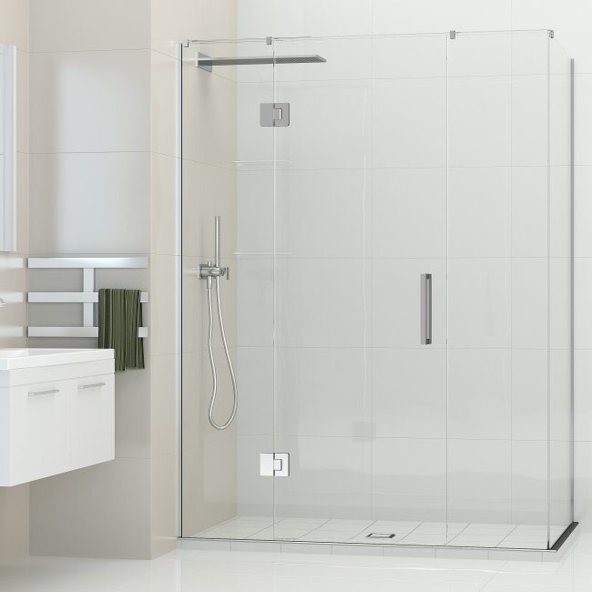 Ava Hinged Door Shower - Centre Waste