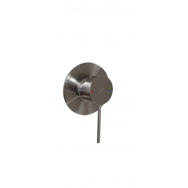 Deluna Shower Mixer 40mm Brushed Stainless Steel