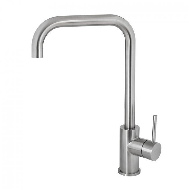 Deluna Sink Mixer D Spout Brushed Stainless