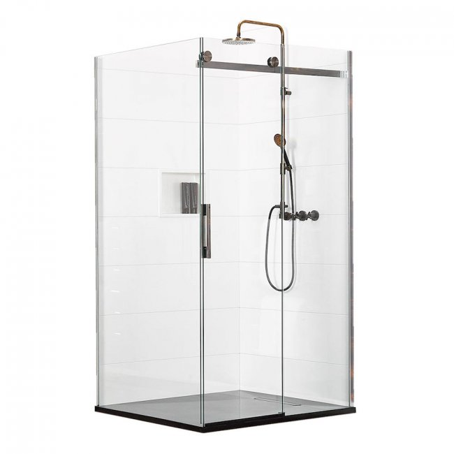 Ebony & Ivory Tambora 2 Wall Shower 1200 x 1000