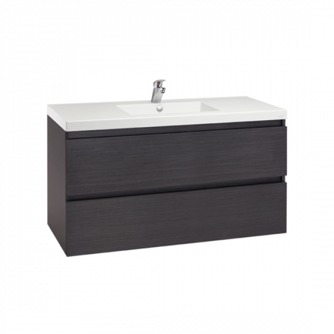 Valencia Wall Hung Vanity, Two Drawers, Single Bowl, 1200mm