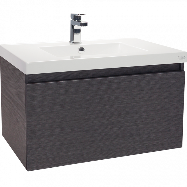 Valencia Wall Hung Vanity, Single Drawer, Single Bowl, 750mm