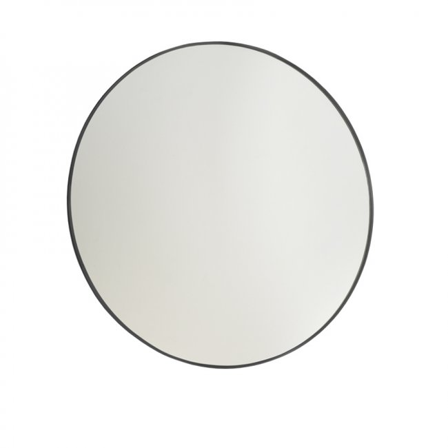 Frame Black 900 Round Mirror